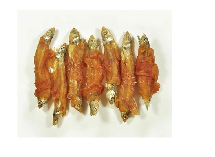 Pamlsok kuracie mäso a sušené rybičky